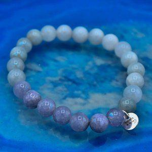🆕 OOAK Natural Angelite Stackable Bracelet